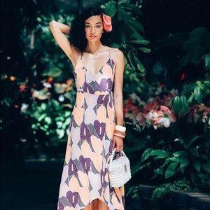 🆕Ava Sky Dress Malika (Grey Anthurium)